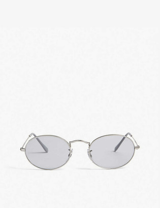 Ray-Ban RB3547 metal and acetate oval-frame sunglasses