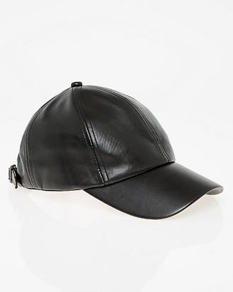 Le Château Faux Leather Baseball Cap
