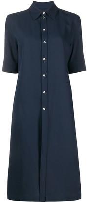 Jil Sander Short-Sleeved Midi Shirt Dress