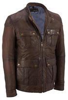 Wilsons Leather Mens 4-Pocket Moto Lamb Jacket
