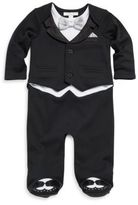Miniclasix Baby's Cotton Mock Suit Footie