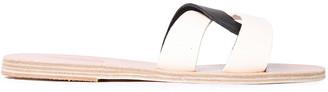 Ancient Greek Sandals Desmos Two-tone Leather Slides