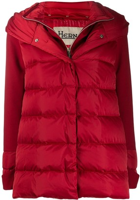 Herno layered puffer jacket