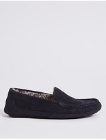 M&S Collection Suede Slipper with Driver Sole & FreshfeetTM