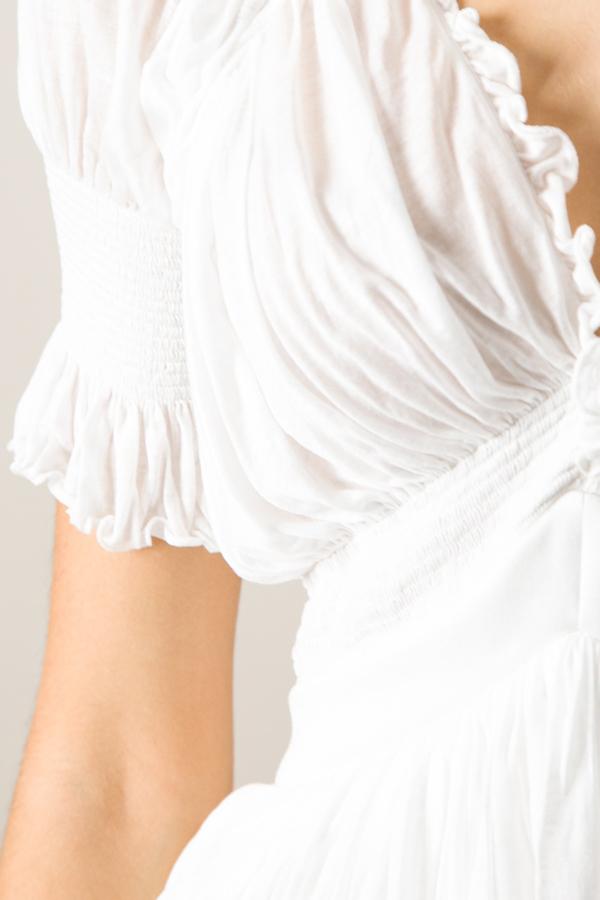 Givenchy Peasant Ruffle Top
