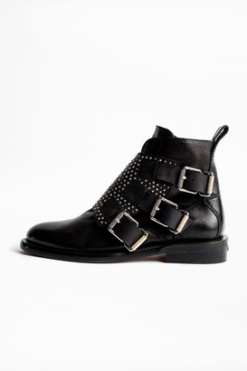 Zadig & Voltaire Laureen Flap Studs Ankle Boots