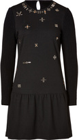 Athé Wool Embellished Front Dress in Black