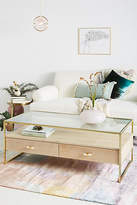 Anthropologie Framed Brass Coffee Table