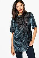 Boohoo Tall Lora Oversized Premium Devore T-Shirt