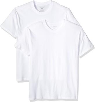 Nick Graham Men's Slim Fit Multipack Cotton Stretch Crew T-Shirt (2 Pack)