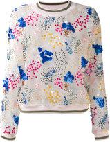 Miahatami - sheer embellished sweatshirt - women - Silk - 40