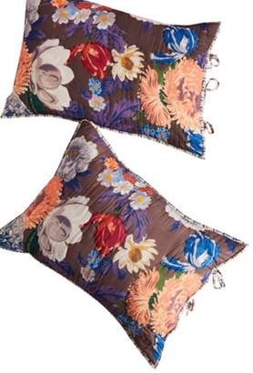 Anthropologie Agneta Floral Quilted Shams - Set of 2