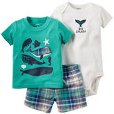 Carter's 3-Piece Bodysuit & Shorts Set