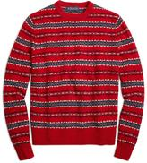 Brooks Brothers Merino Wool Fair Isle Crewneck Sweater
