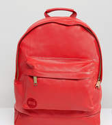 Mi-Pac Exclusive Tumbled Faux Leather Backpack In Scarlett Red