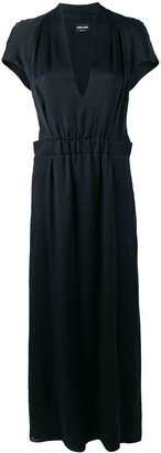 Giorgio Armani V-neck draped maxi dress