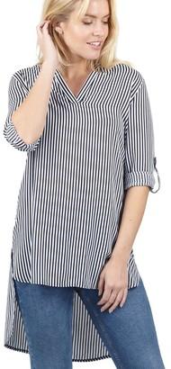 M&Co Izabel oversized striped shirt