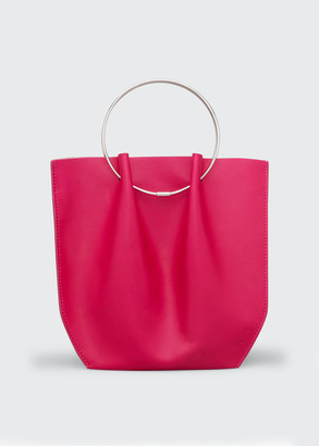 The Row Flat Micro Circle Bag in Calf Leather