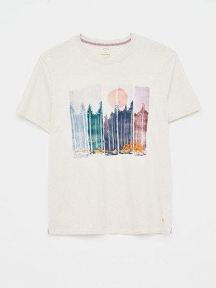 White Stuff Pedal Organic Graphic T-shirt - White