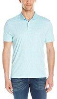 Calvin Klein Men's Liquid Cotton Short-Sleeve Geo Printed Polo Shirt