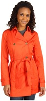 MICHAEL Michael Kors Twill Classic Trench w/ Belt (Papaya) - Apparel
