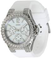 GUESS GUESS? Women's U12653L1 White Silicone Quartz Watch with Mother-Of-Pearl Dial