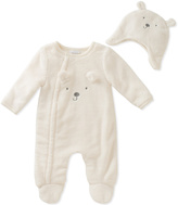 Absorba White Bear Footie & Beanie - Infant