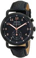 Jack Spade Men's WURU0118 Fraser Black Stainless Steel Watch with Leather Band