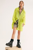 Free People Callie Poncho by Free People, Neon Chartreuse, XS