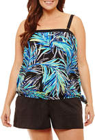 AZUL BY MAXINE OF HOLLYWOOD Azul by Maxine of Hollywood Blouson Swimsuit Top-Plus