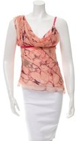 Carlos Miele Printed Silk Top w/ Tags