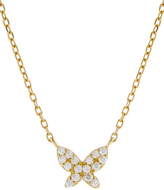 Adina's Jewels Cubic Zirconia Dainty Butterfly Necklace