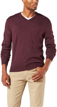 Dockers Men's Soft Argyle V-Neck Sweater