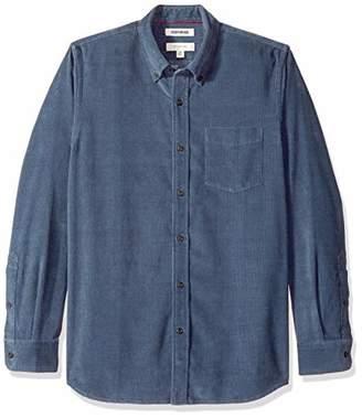 Goodthreads Men's Slim-fit Long-sleeve Corduroy Casual Shirt, Blue ( Den), X-Small