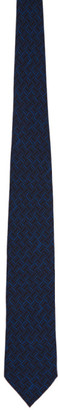 Dunhill Blue Silk Abstract Tie