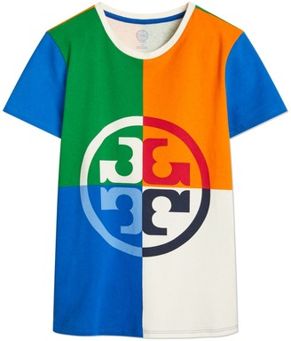 Tory Burch Color-Block Logo T-Shirt