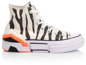 Converse Sun Blocked CPX70 Zebra-Stripe Canvas High-Top Sneakers