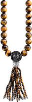 Thomas Sabo Rebel at Heart Mala Power sterling silver and tiger's eye bead necklace
