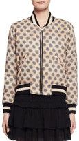 Etoile Isabel Marant Dabney Reversible Cotton Bomber Jacket, Ecru