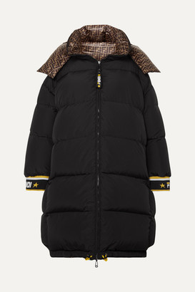 Fendi Reversible Printed Quilted Shell Down Jacket - Black