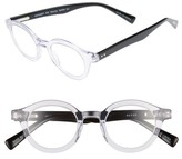 Eyebobs Men's Tv Party 44Mm Reading Glasses - Crystal With Black