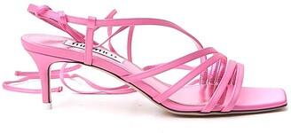 ATTICO Square-Toe Strappy Sandals