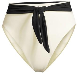 Mara Hoffman Goldie Tie-Waist Hi-Rise Bikini Bottoms