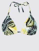 Marks and Spencer Palm Print Triangle Bikini Top