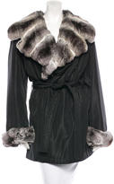 Giuliana Teso Fur-Trimmed Trench Coat
