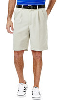 Haggar Men's Cool 18 Pleated Microfiber Shorts