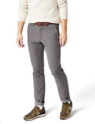 Tom Tailor Men's Basic Chino Yd with Belt Trouser, (Dark Raven Grey 2151), W36/L34 (Size: 36)