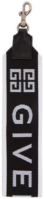 Givenchy Black and White Large 4G Logo Keychain