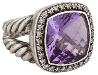 David Yurman Amethyst & Diamond Albion Ring