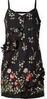 Marques Almeida Marques' Almeida - Cutout Embroidered Cotton-blend Mini Dress - Black